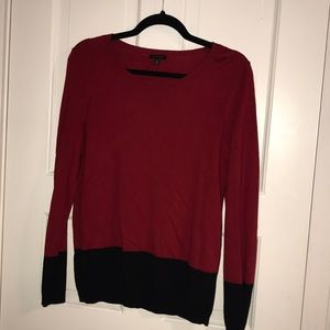 red and black think sweater